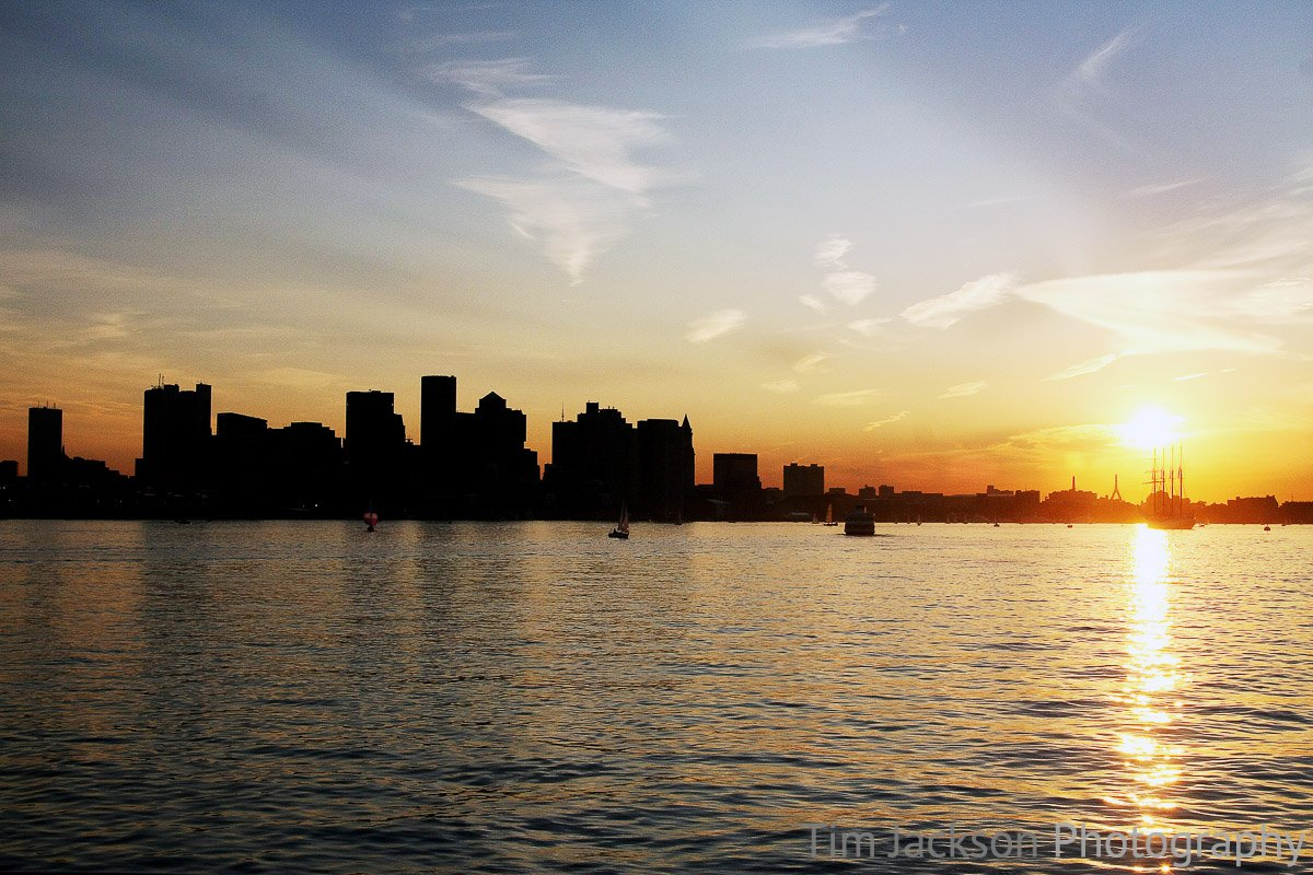 Boston Skyline at Sunset Photograph by Tim Jackson