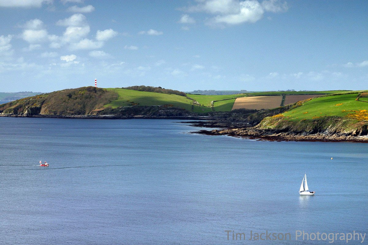 Sailing To Gribbin Head Photograph by Tim Jackson