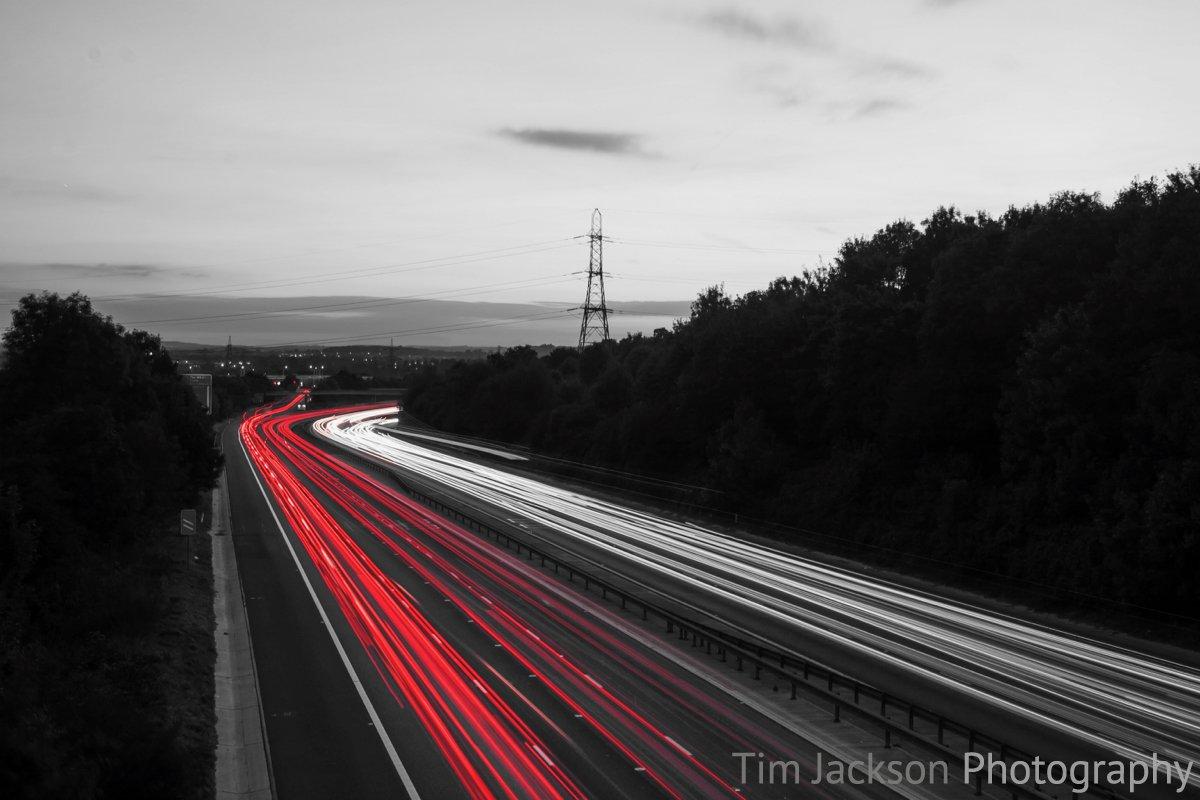 Traffic Trails Photograph by Tim Jackson