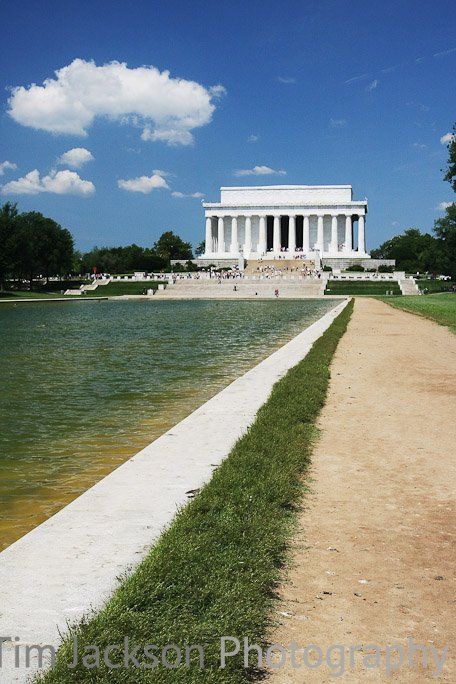 Walk to Lincoln Memorial Photograph by Tim Jackson