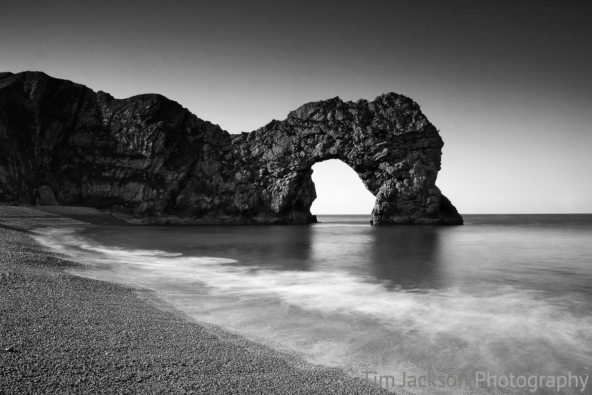 Durdle Door Black and White Photograph by Tim Jackson