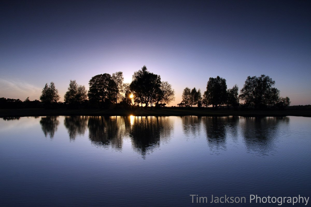 Sunset Over Green Pond Photograph by Tim Jackson