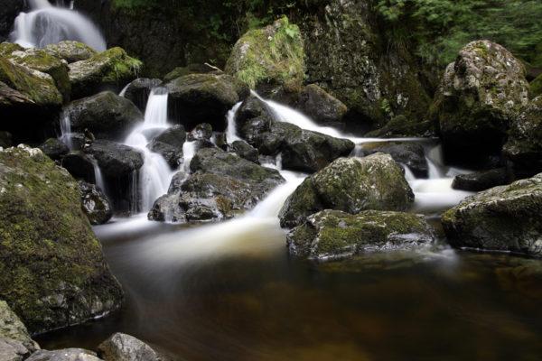 Long exposure of Lodore Falls in the Lake District near Keswick.