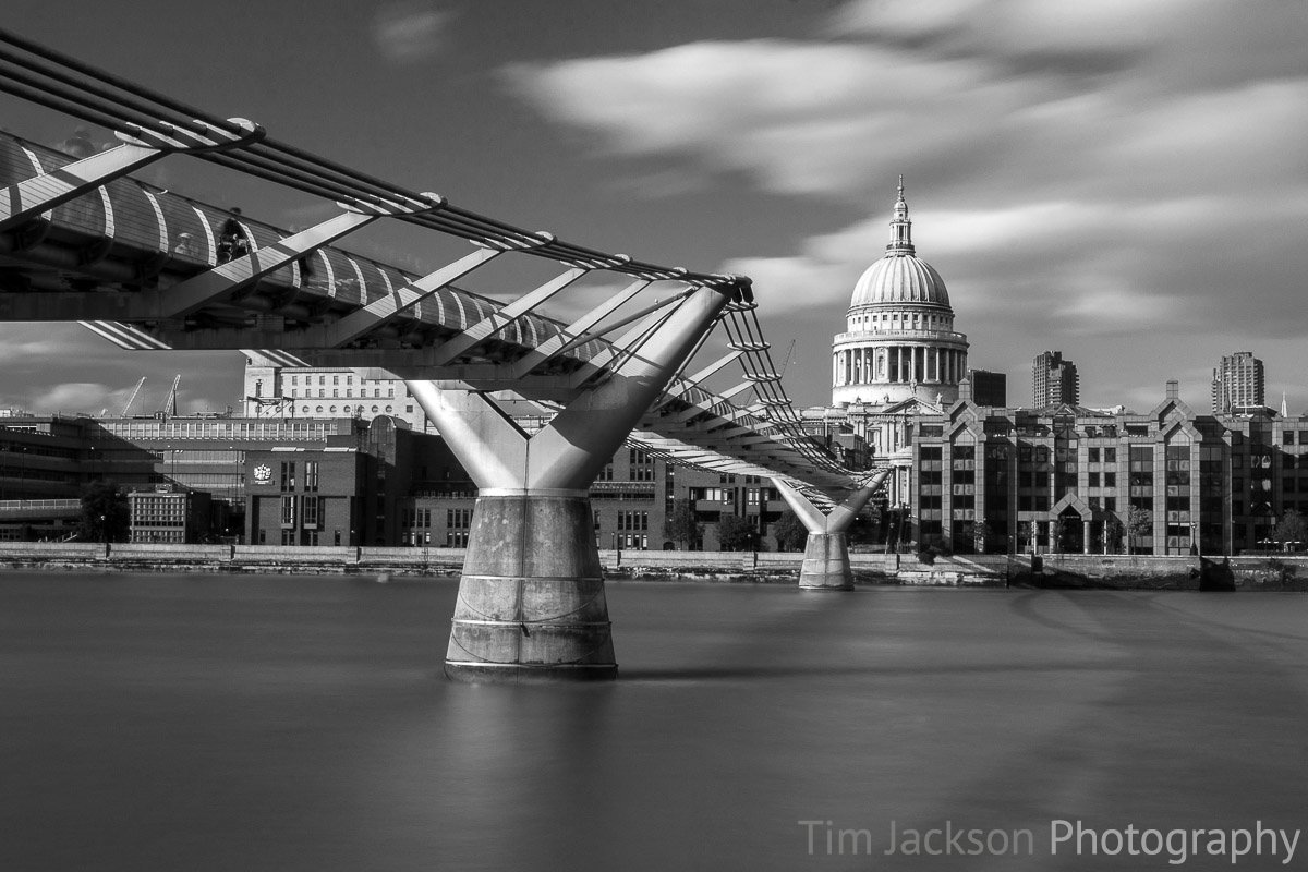 St Pauls Cathedral Black and White Photograph by Tim Jackson