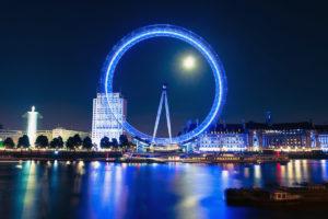 London Eye by Moonlight