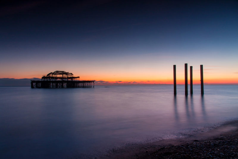 Brighton West Pier Sunset Brighton West Pier Sunset Photograph by Tim Jackson