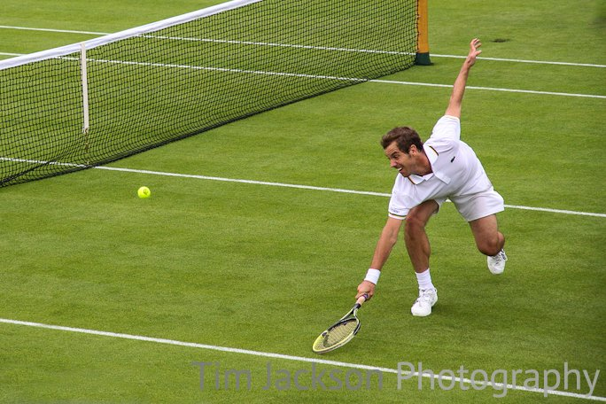 Wimbledon 2013 - Day 2 - Court 2 Gasquet Photograph by Tim Jackson
