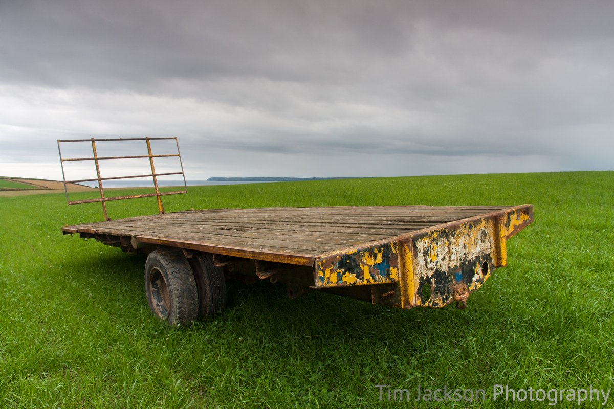 A trailer that has seen better days.