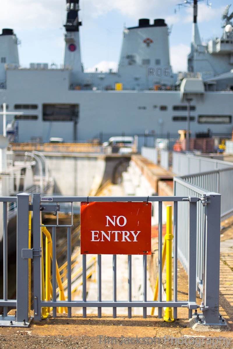 N is for No Entry - I guess photographs from on the warship are out of the question then!