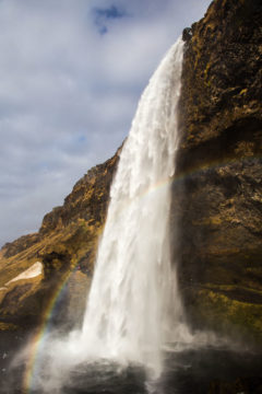 Iceland Trip Seljalandsfoss Rainbow Photograph by Tim Jackson