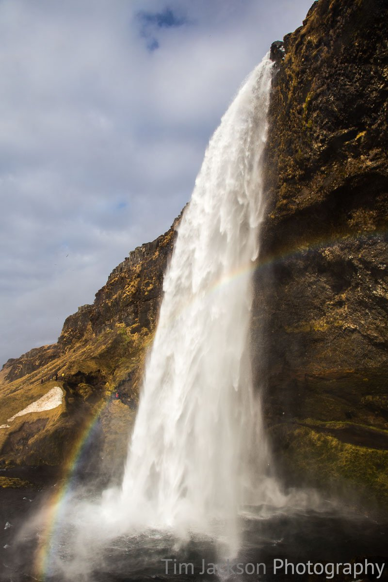 Seljalandsfoss Waterfall Rainbow Photograph by Tim Jackson