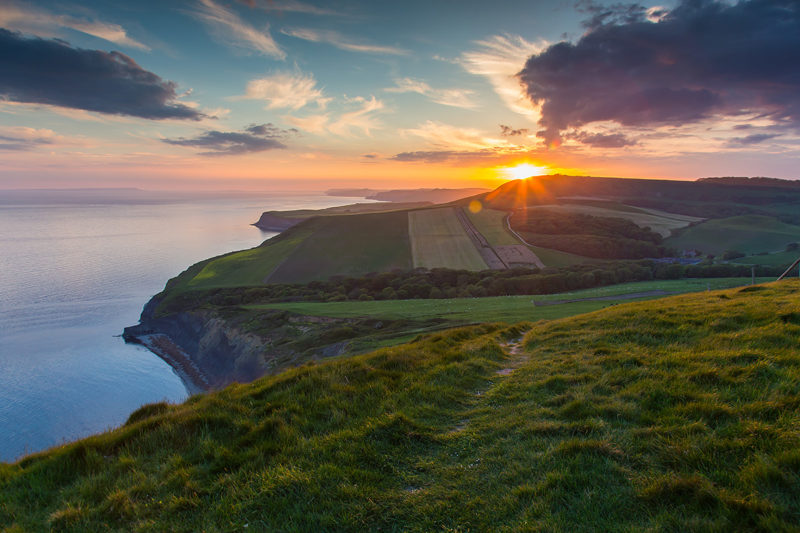 Houns Tout Cliff Sunset Houns Tout Cliff Sunset Photograph by Tim Jackson