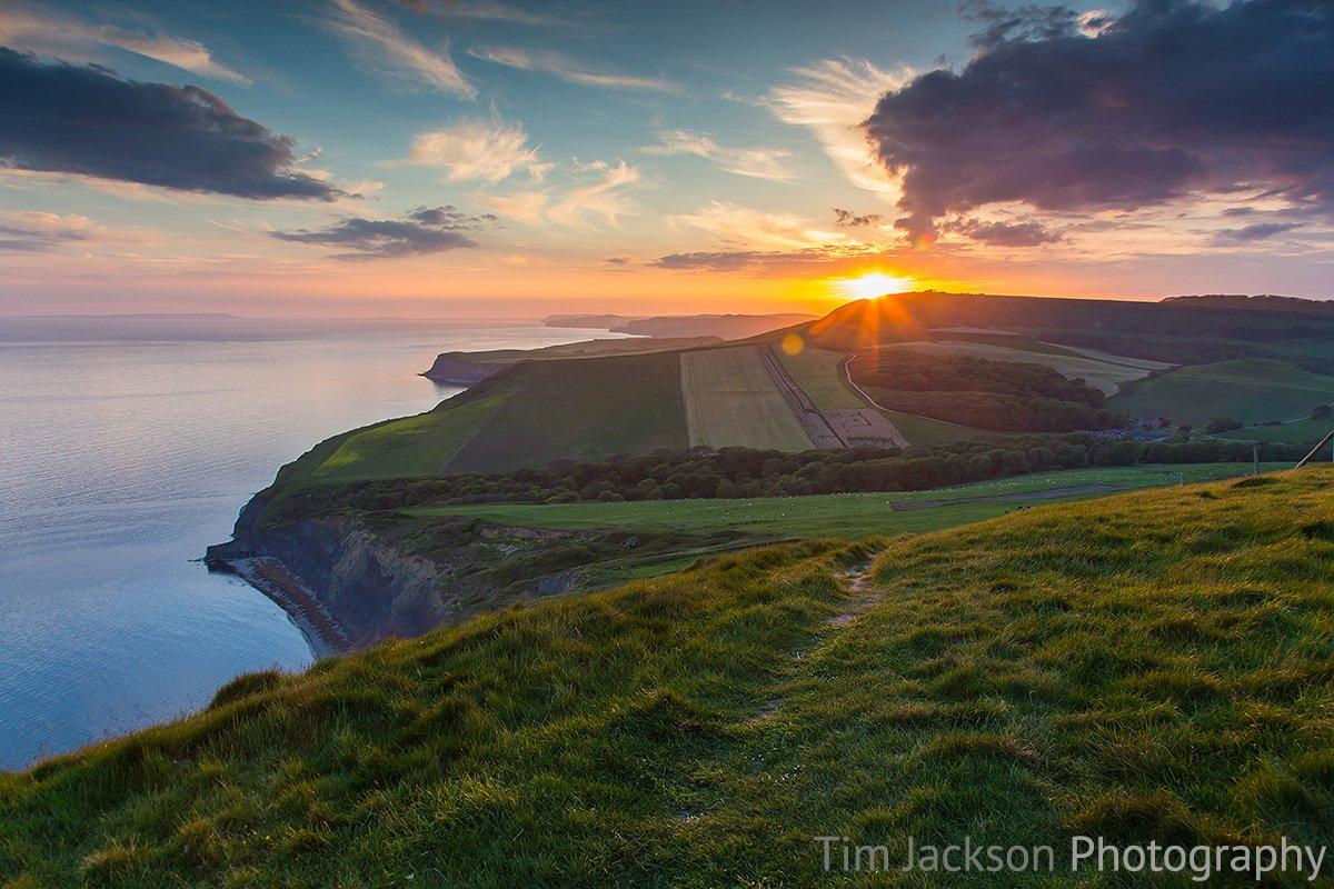 Walk from Kingston to Kimmeridge Houns Tout Cliff Sunset Photograph by Tim Jackson