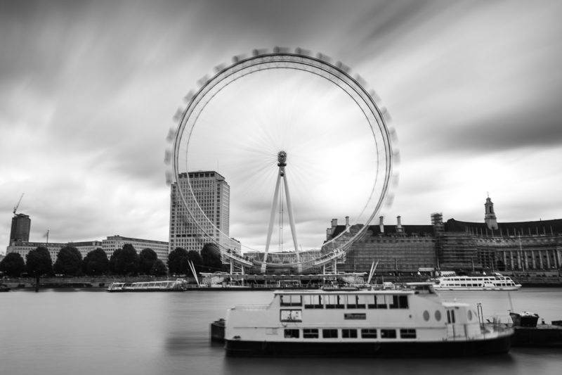 London Eye Black and White London Eye Black and White Photograph by Tim Jackson