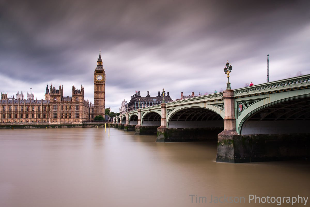 Westminster Bridge Overcast Photograph by Tim Jackson
