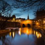 Trip to Bath Bath Night Cityscape Photograph by Tim Jackson