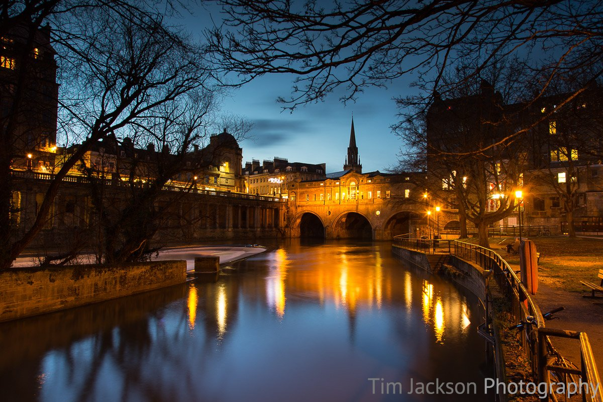 Bath Night Cityscape Photograph by Tim Jackson