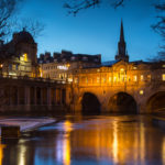 Trip to Bath Pulteney Bridge and Wier at Night Photograph by Tim Jackson