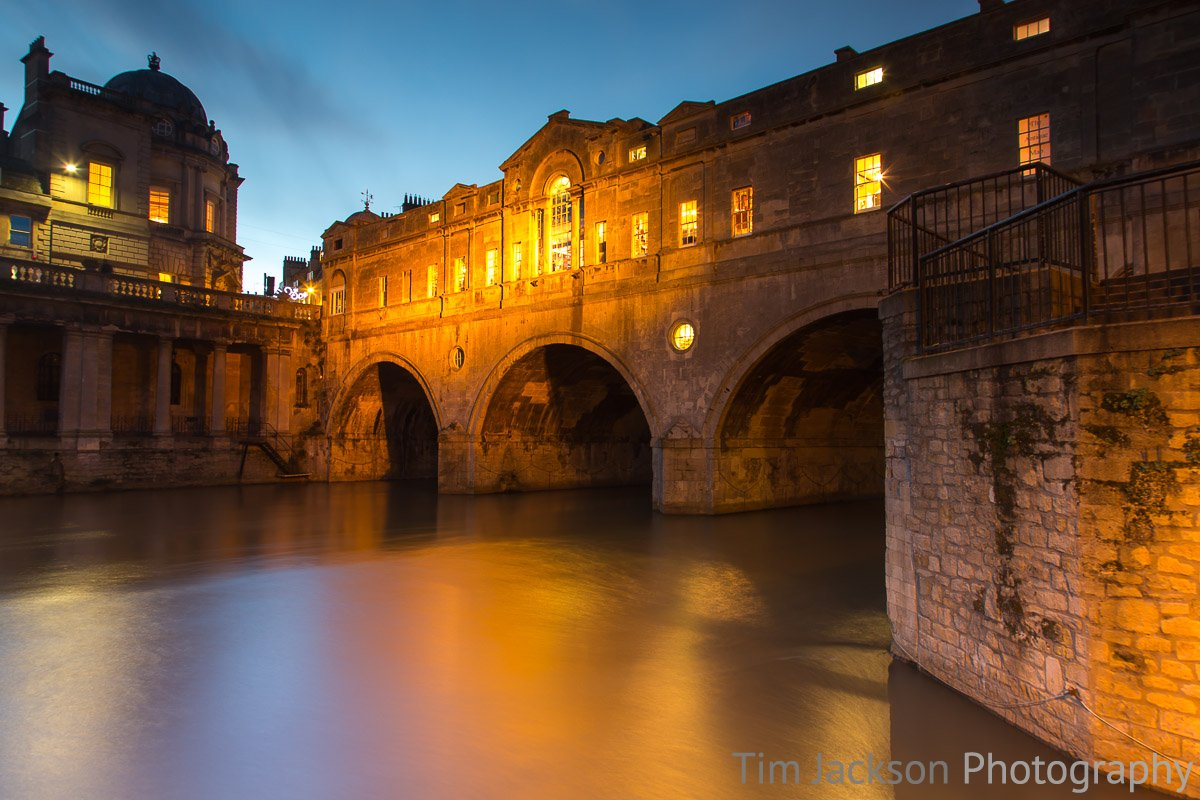 Trip to Bath Pulteney Bridge at Night Photograph by Tim Jackson