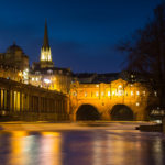 Trip to Bath River Avon Pulteney Bridge at Night Photograph by Tim Jackson