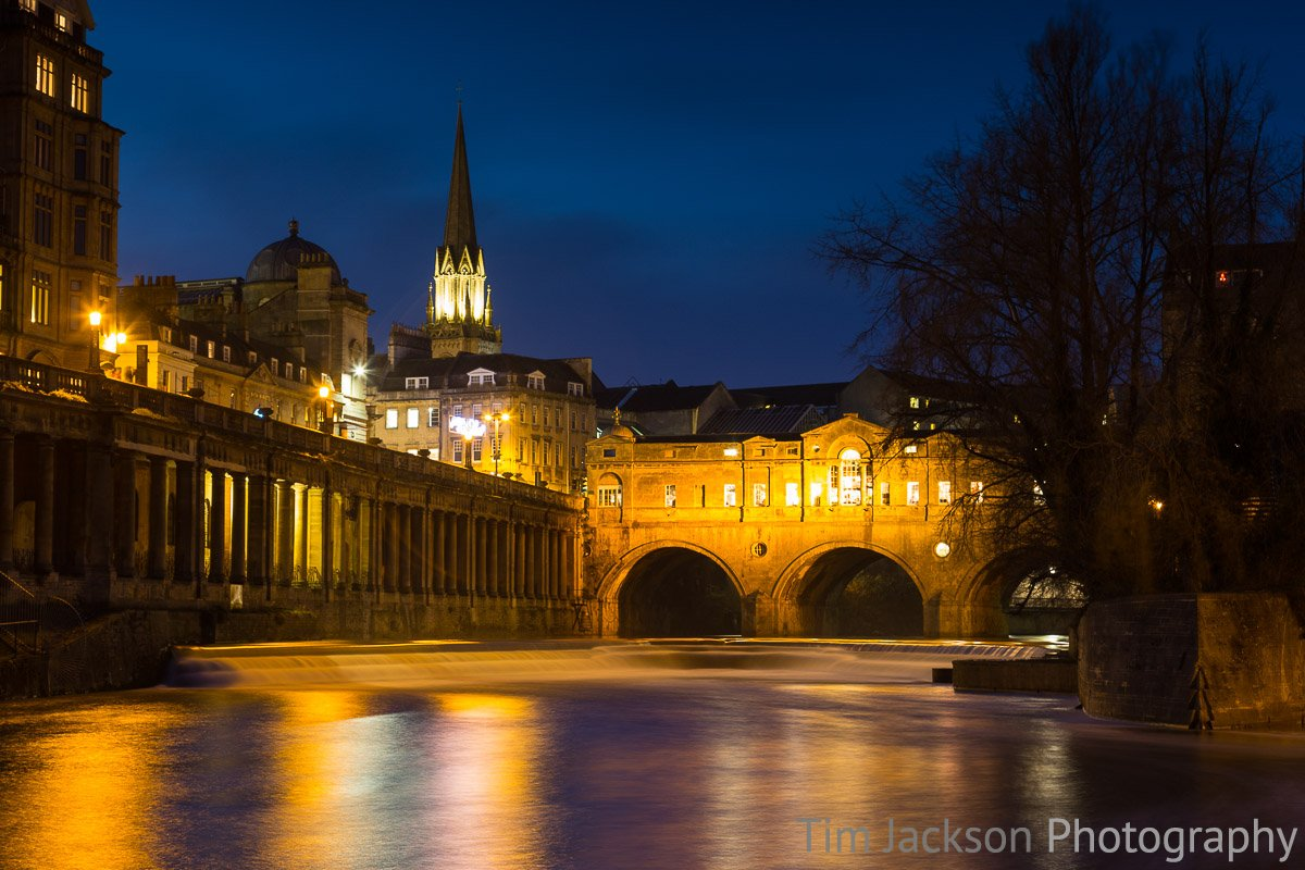 River Avon Pulteney Bridge at Night