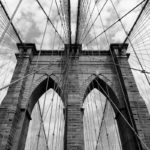 Brooklyn Bridge from Day to Dusk Brooklyn Bridge Abstract Photograph by Tim Jackson