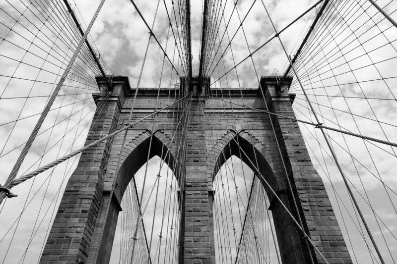Brooklyn Bridge Abstract Brooklyn Bridge Abstract Photograph by Tim Jackson