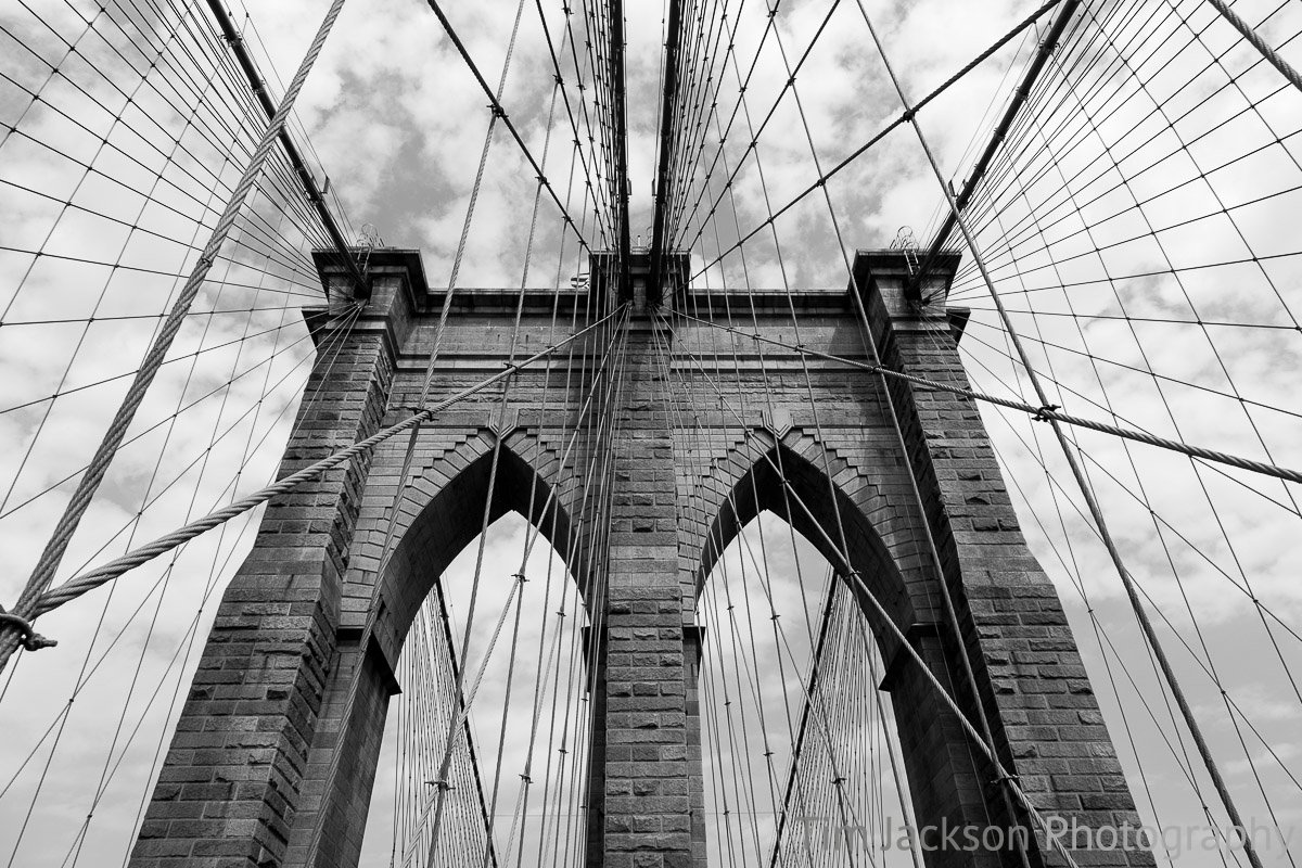 Brooklyn Bridge Abstract Photograph by Tim Jackson