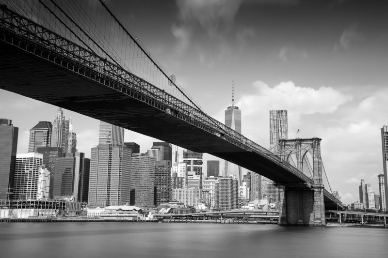 Brooklyn Bridge Black and White Brooklyn Bridge Black and White Photograph by Tim Jackson