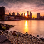 Brooklyn Bridge from Day to Dusk Brooklyn Bridge Sunset Photograph by Tim Jackson