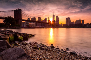 Landscape Photographer Brooklyn Bridge Sunset Photograph by Tim Jackson