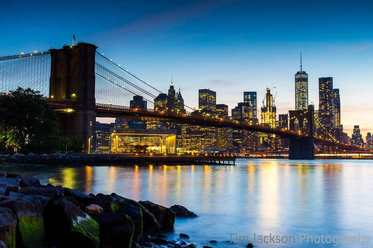 Brooklyn Bridge at Dusk Brooklyn Bridge at Dusk Photograph by Tim Jackson