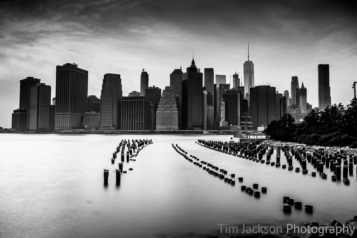 Brooklyn Pier Pilings Black and White Brooklyn Pier Pilings Black and White Photograph by Tim Jackson