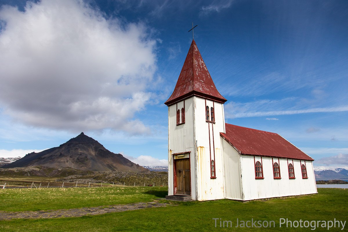 Icelandic Church Icelandic Church Photograph by Tim Jackson
