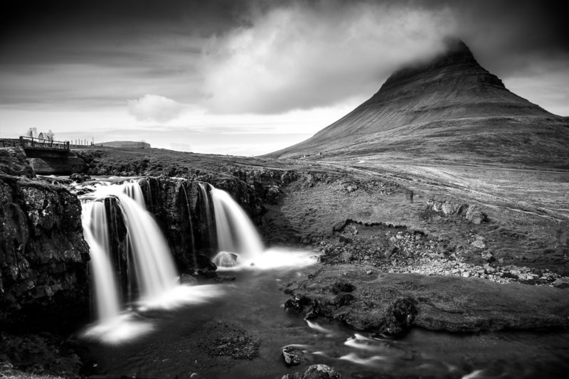 Kirkjufell Mountain Black and White Kirkjufell Mountain Black and White Photograph by Tim Jackson