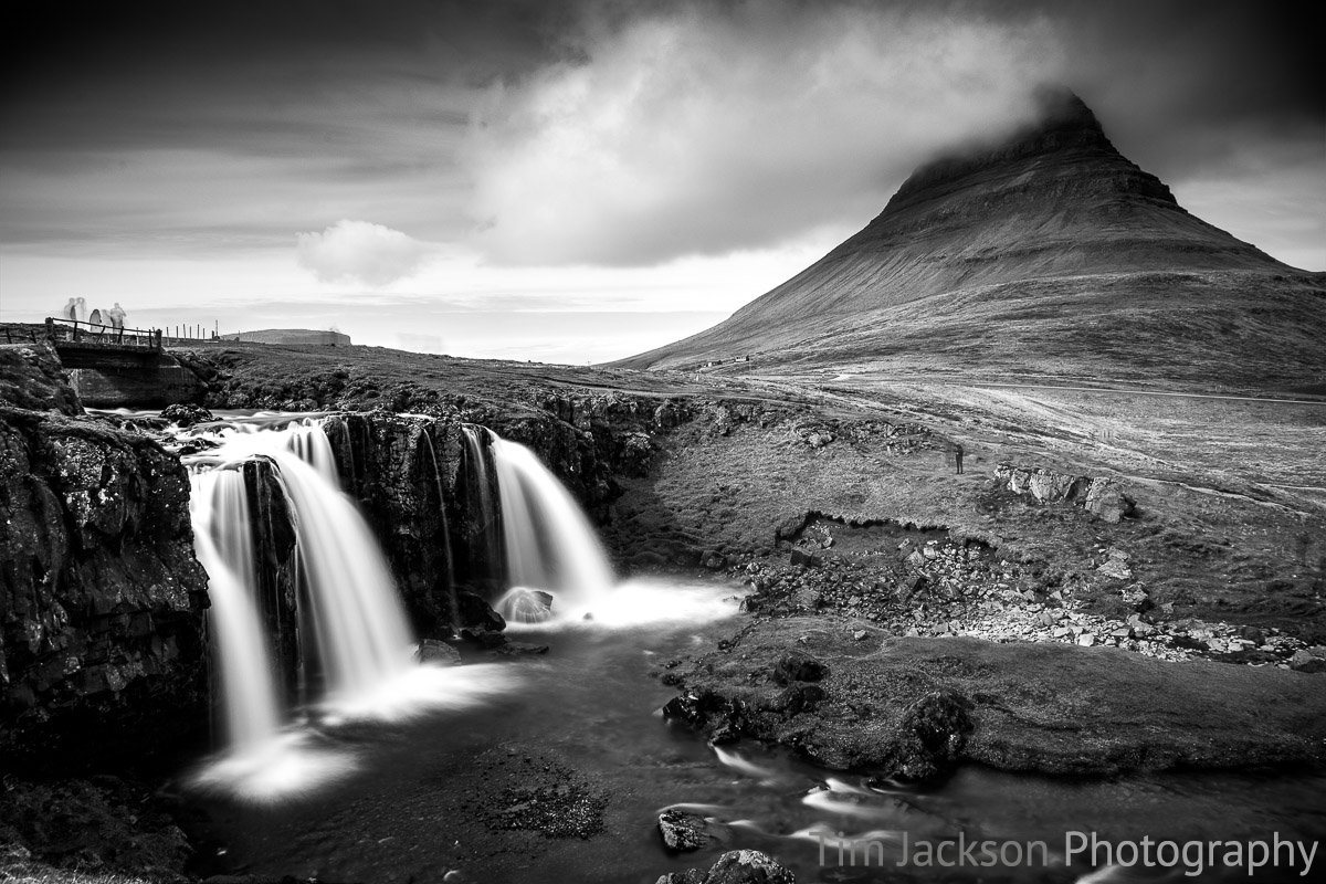 Kirkjufell Mountain Black and White Photograph by Tim Jackson