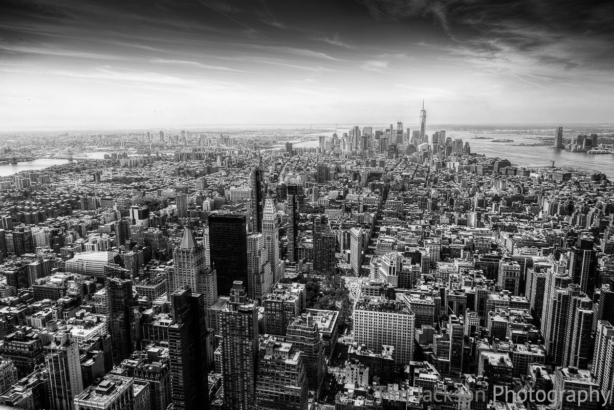 Lower Manhattan Black and White Lower Manhattan Black and White Photograph by Tim Jackson