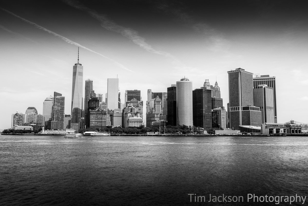 Manhattan Skyline Black and White Manhattan Skyline Black and White Photograph by Tim Jackson