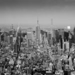 Manhattan from up high. Midtown Manhattan Skyline Black and White Photograph by Tim Jackson