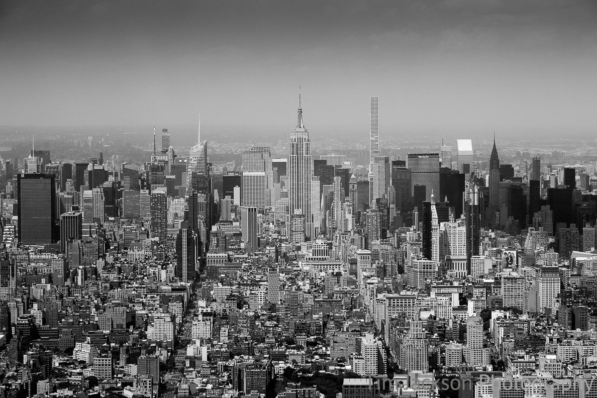 Midtown Manhattan Skyline Black and White Midtown Manhattan Skyline Black and White Photograph by Tim Jackson