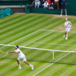 Andy Murray wins tennis match against Nick Kyrgios in straight sets to go through to quarter final of Wimbledon 2016. IMG 7350 Photograph by Tim Jackson