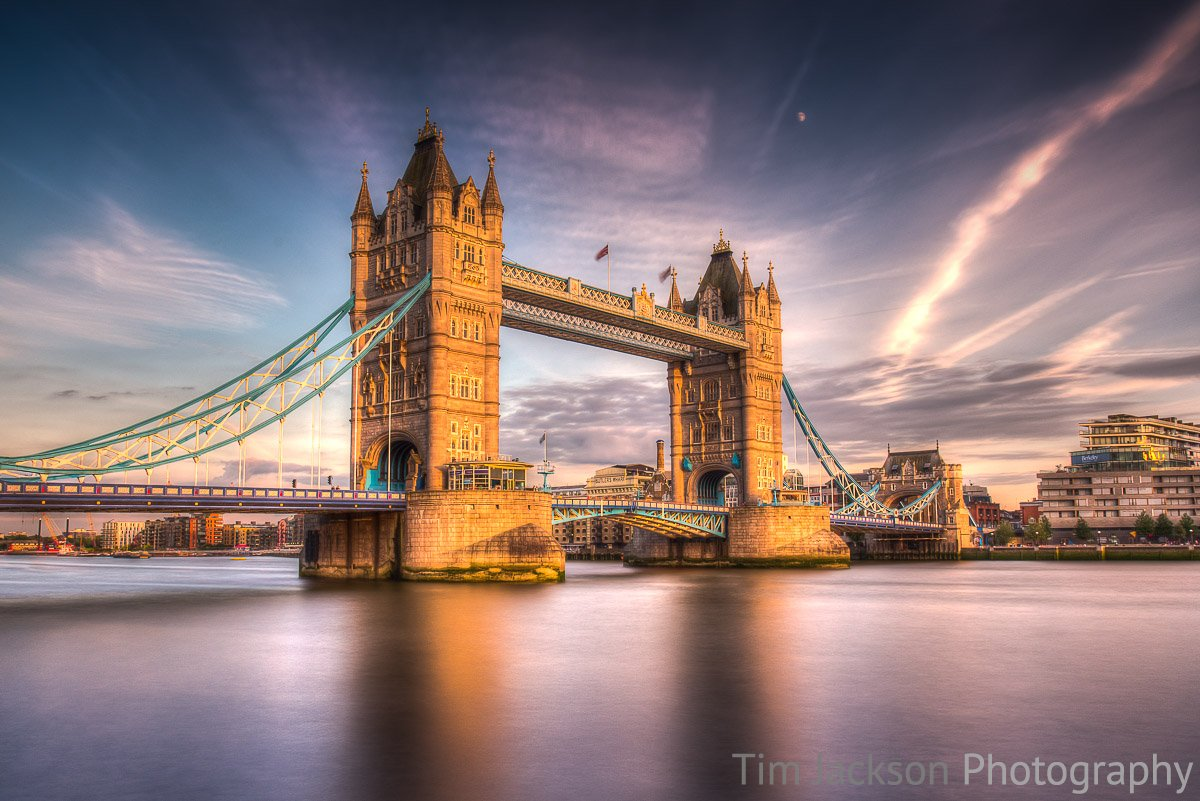 Sunset Tower Bridge