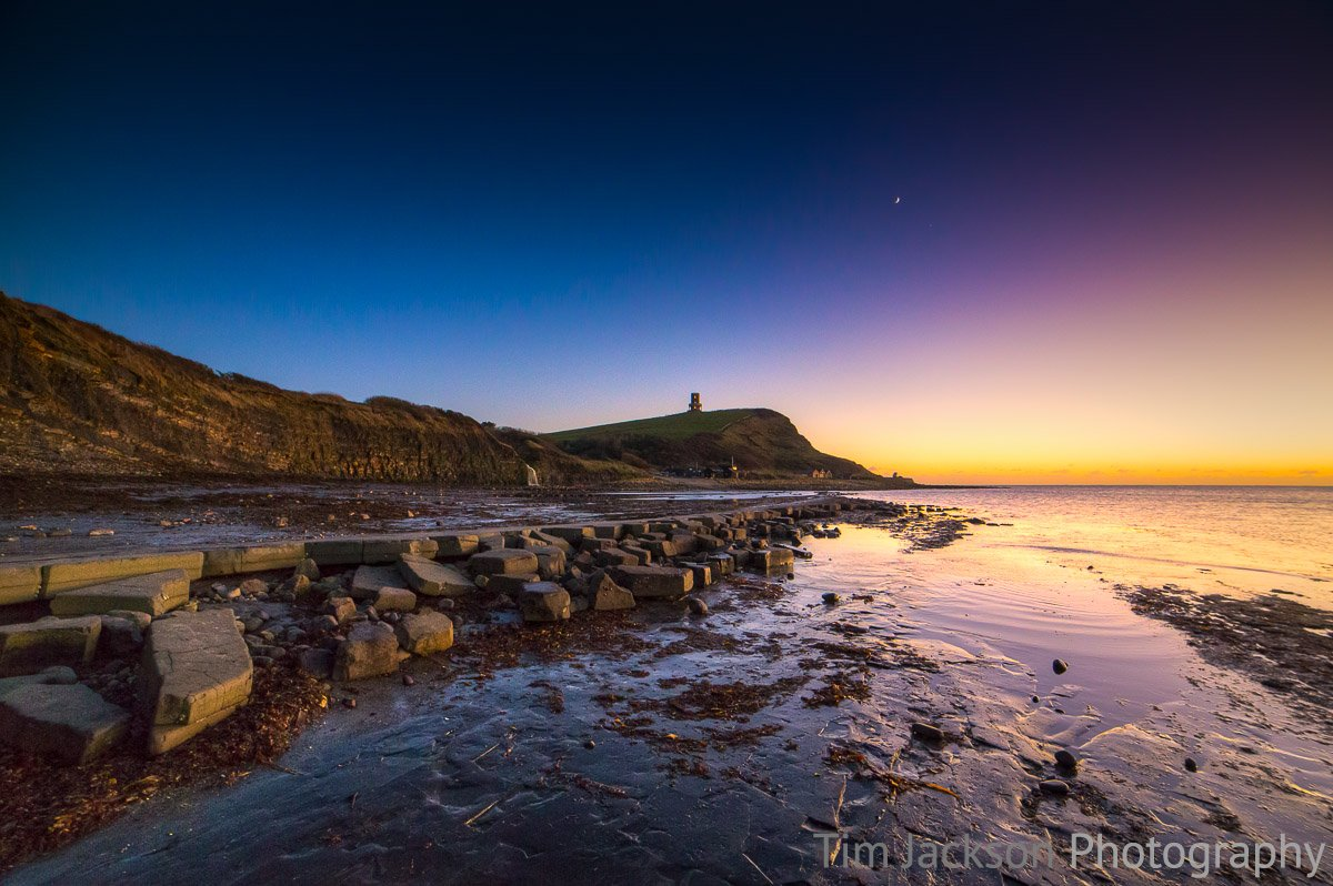 Kimmeridge Bay at Dusk Photograph by Tim Jackson