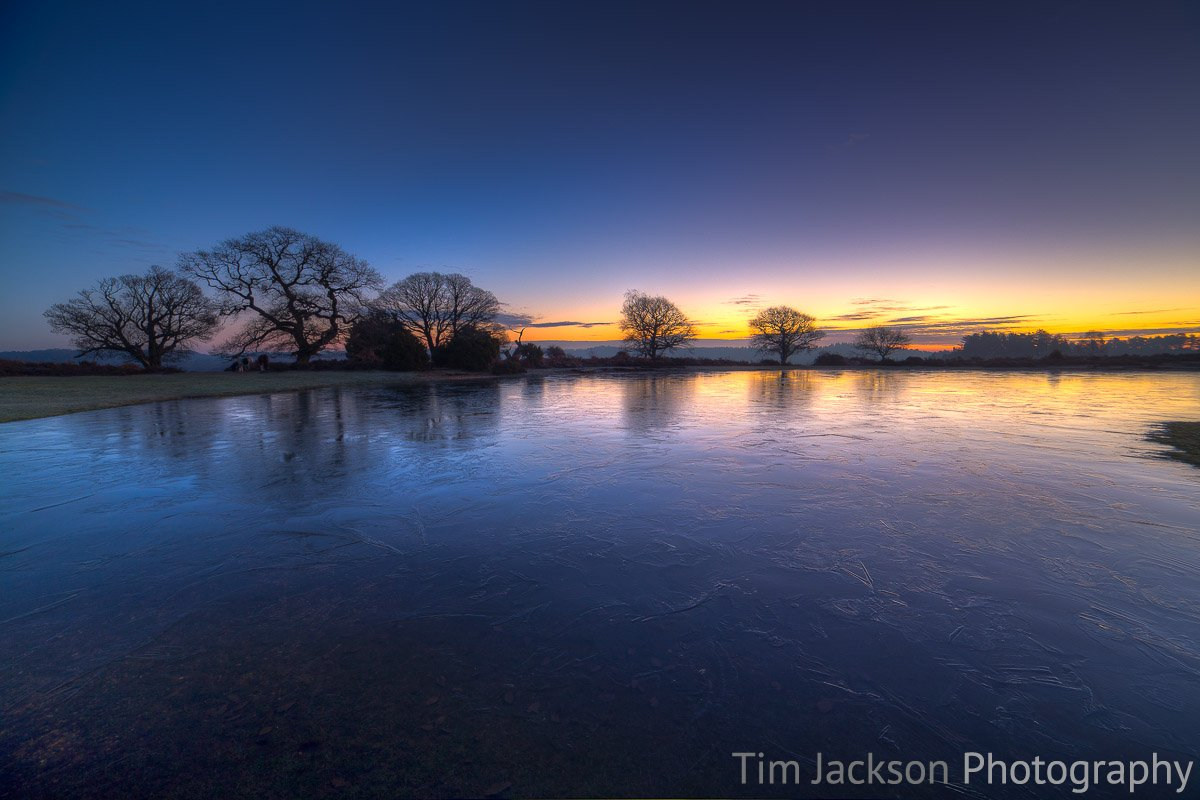 Samyang 14mm f2.8 for landscape photography. Mogshade Pond New Forest Dawn Photograph by Tim Jackson