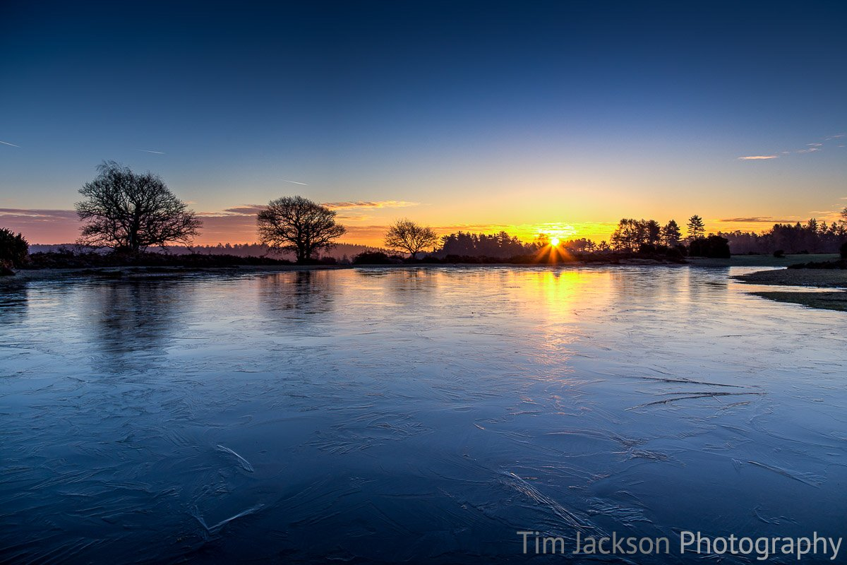 Mogshade Pond New Forest Sunrise Photograph by Tim Jackson