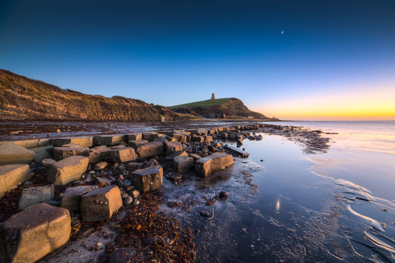 Samyang 14mm f2.8 for landscape photography. Moon and Venus Kimmeridge Bay Photograph by Tim Jackson