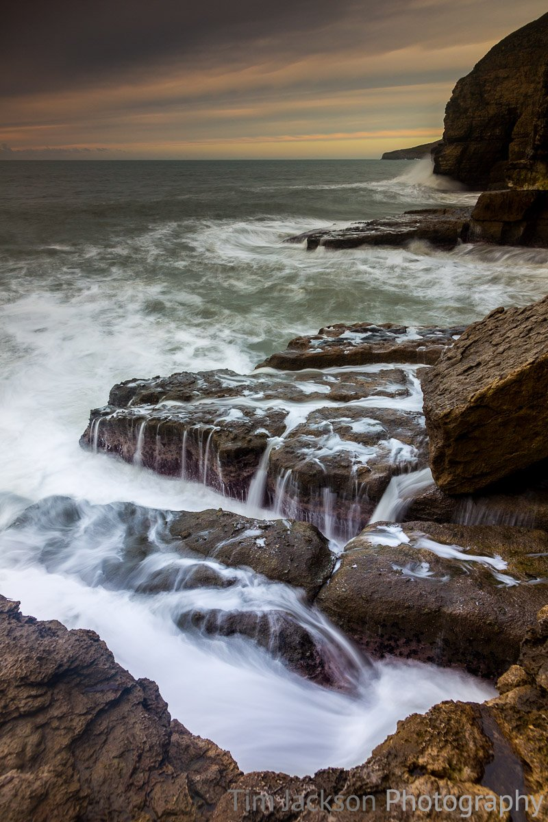 Stormy Seas Dorset Coast Photograph by Tim Jackson