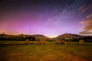 Lake District Castlerigg Stone Circle Aurora Photograph by Tim Jackson