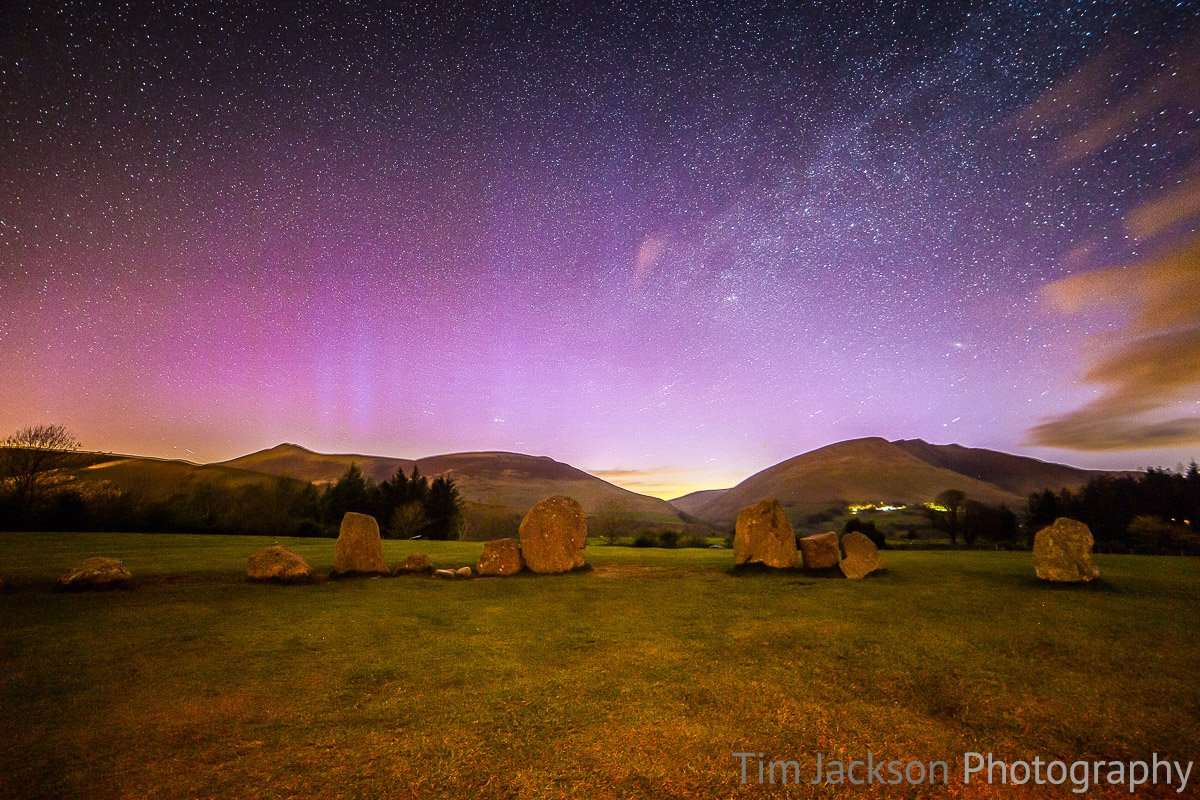 Castlerigg Stone Circle Aurora Photograph by Tim Jackson