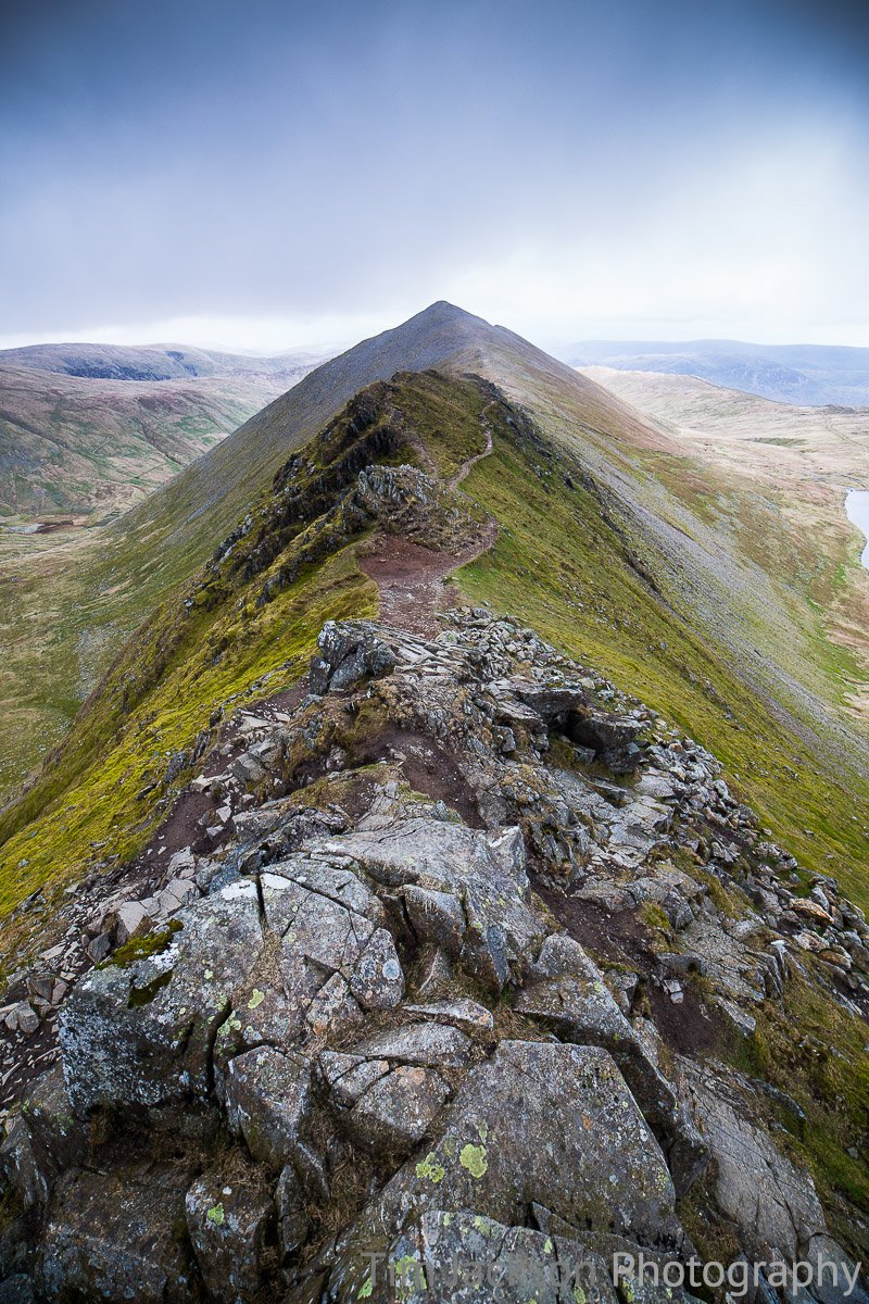 Helvellyn to Catstye Cam Photograph by Tim Jackson
